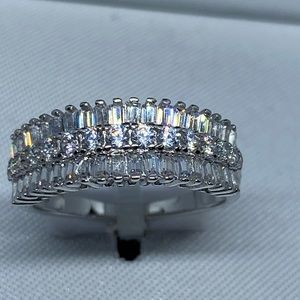 PRIMROSE Sterling Silver Triple Row Ring